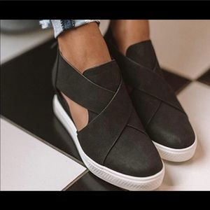 Hidden wedge sneakers